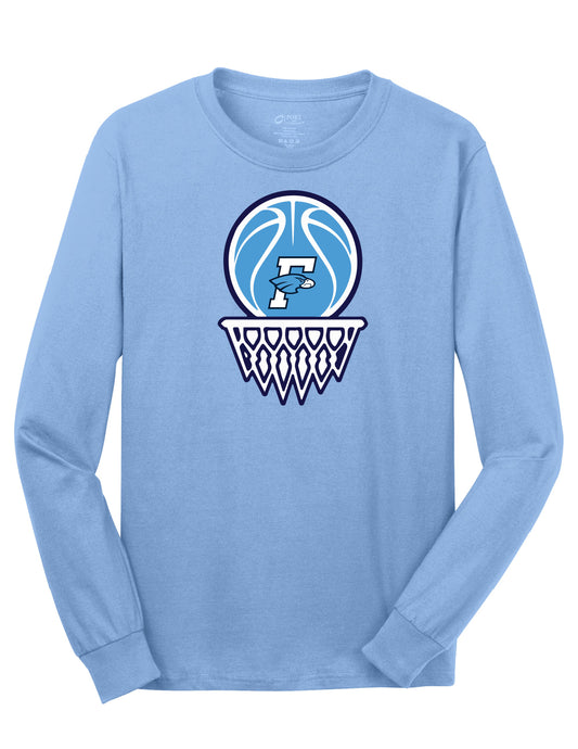 Fairborn Basketball - LS Tee (Aquatic Blue)