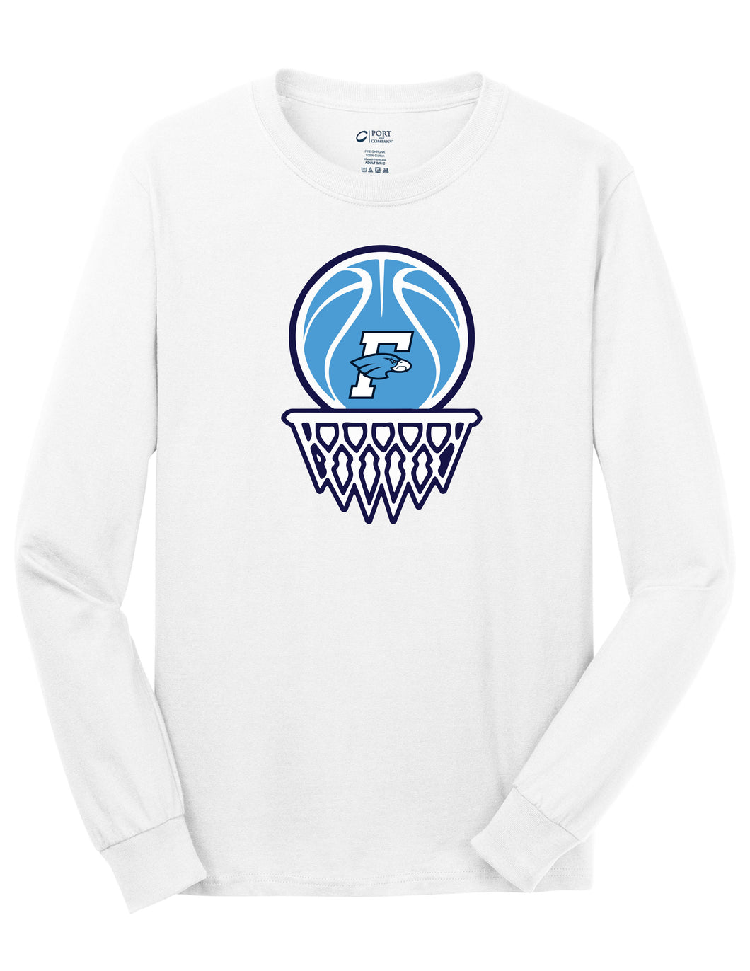 Fairborn Basketball - LS Tee (White)