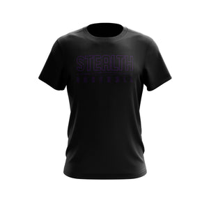 Stealth Baseball Black Tee