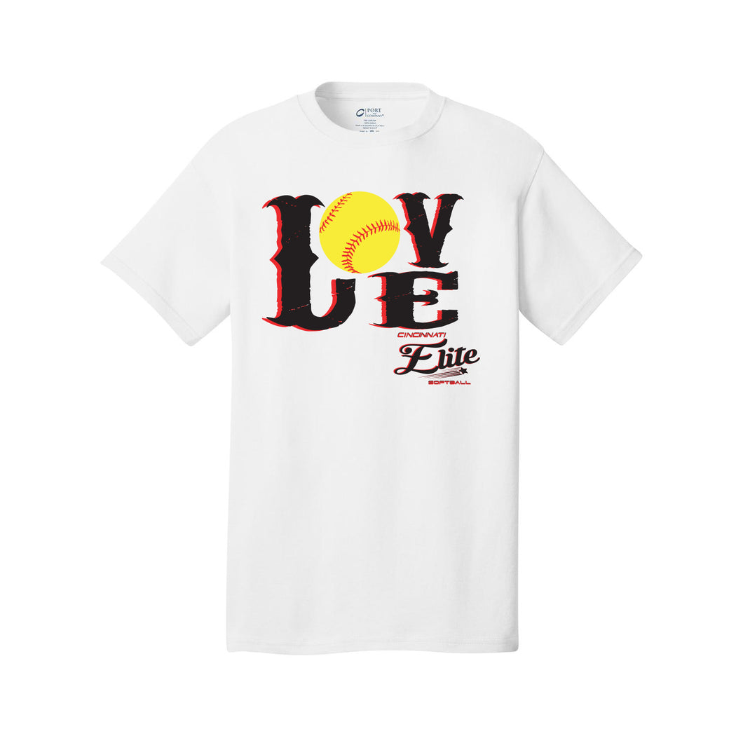 Cincy Elite - LOVE Core Cotton Tee (White)