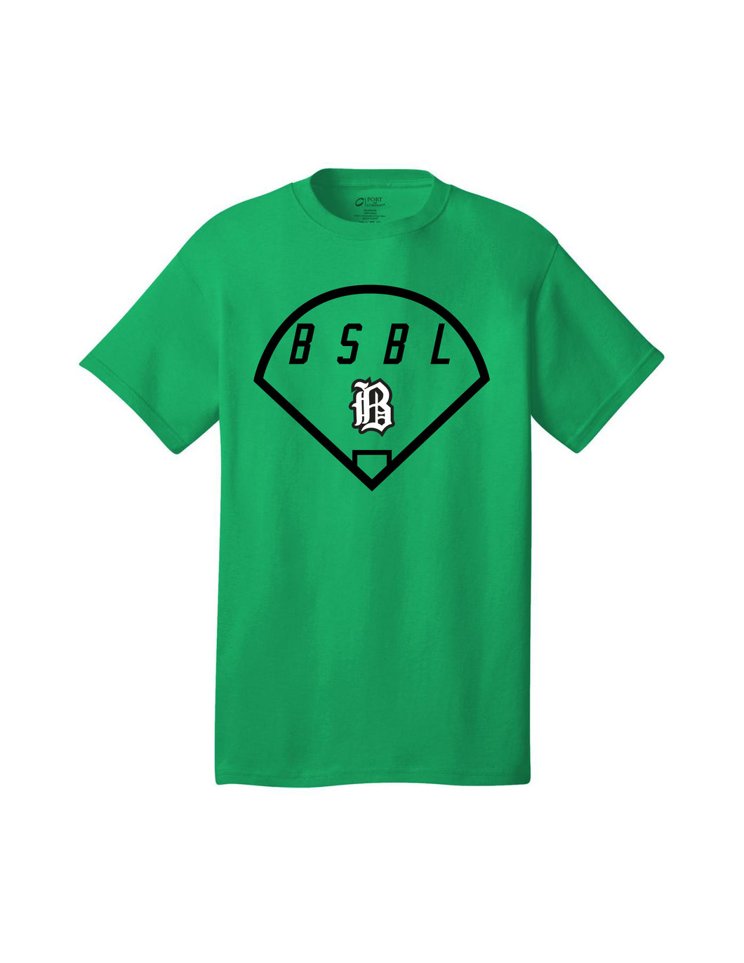 Badin Baseball - BSBL Tee (Kelly Green)