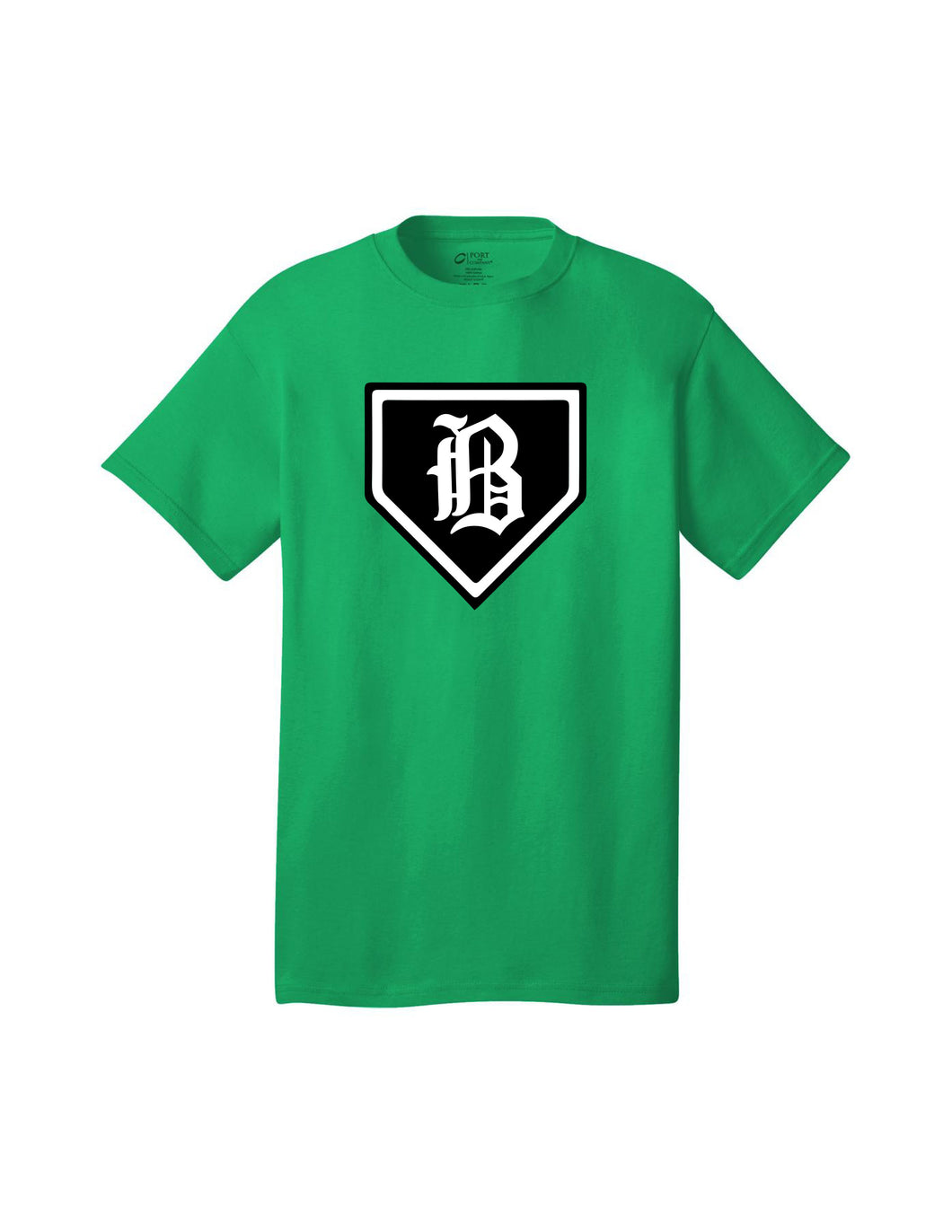 Badin Baseball - Home Plate Tee (Kelly Green)