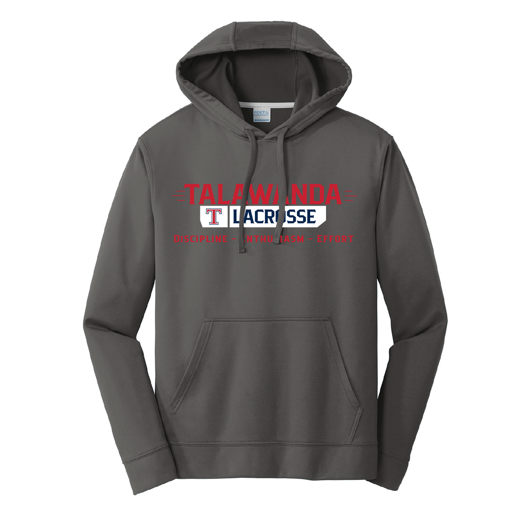 Talawanda Lacrosse - Performance Fleece Pullover Hooded Sweatshirt (Silver)