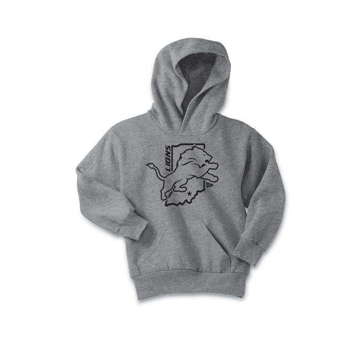 Salem Lions Football - Fleece Pullover Hooded Sweatshirt (Athletic Heather)