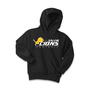 Salem Lions Football - Fleece Pullover Hooded Sweatshirt (Black)