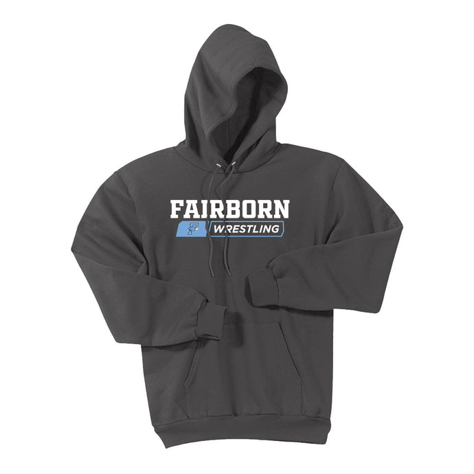 Fairborn Wrestling 2020 - Essential Fleece Pullover Hooded Sweatshirt (Charcoal)