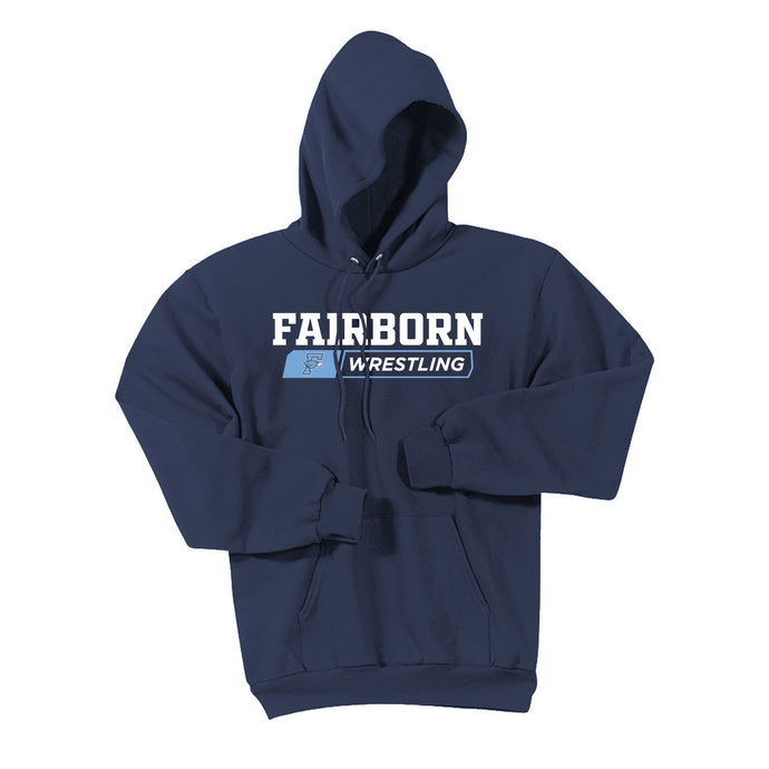 Fairborn Wrestling 2020 - Essential Fleece Pullover Hooded Sweatshirt (Navy)