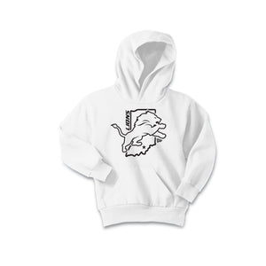 Salem Lions Football - Fleece Pullover Hooded Sweatshirt (White)