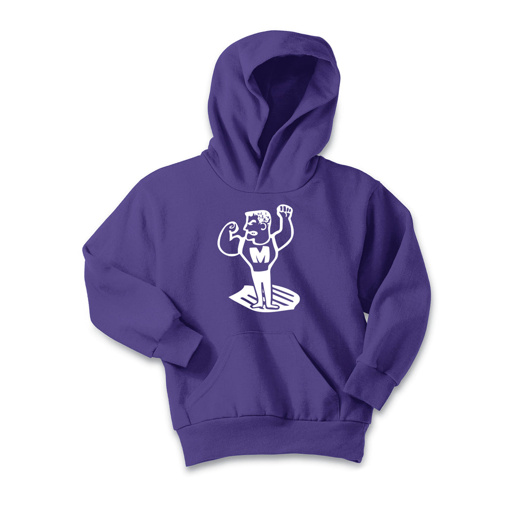 Middletown Athletics - Middie Man Fleece Hooded Sweatshirt (Purple)
