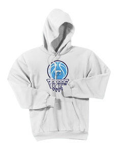 Fairborn Basketball - Essential Fleece Pullover Hooded Sweatshirt (White)