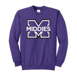Middletown Athletics - M Logo Fleece Crewneck Sweatshirt (Purple)