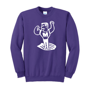 Middletown Athletics - Middie Man Fleece Crewneck Sweatshirt (Purple)