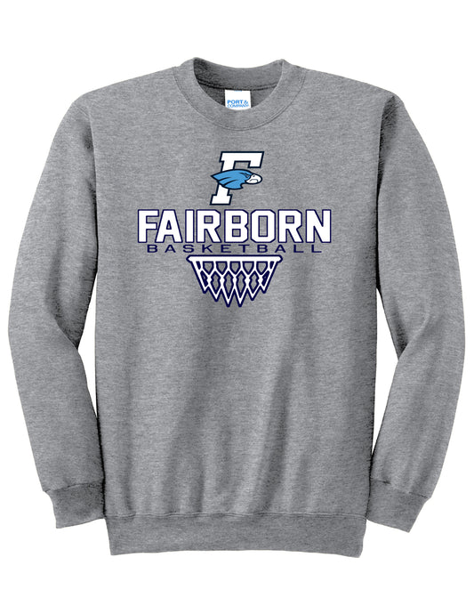 Fairborn Basketball - Core Fleece Crewneck Sweatshirt (Athletic Heather)