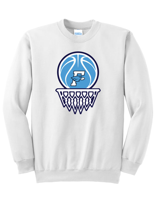 Fairborn Basketball - Core Fleece Crewneck Sweatshirt (White)