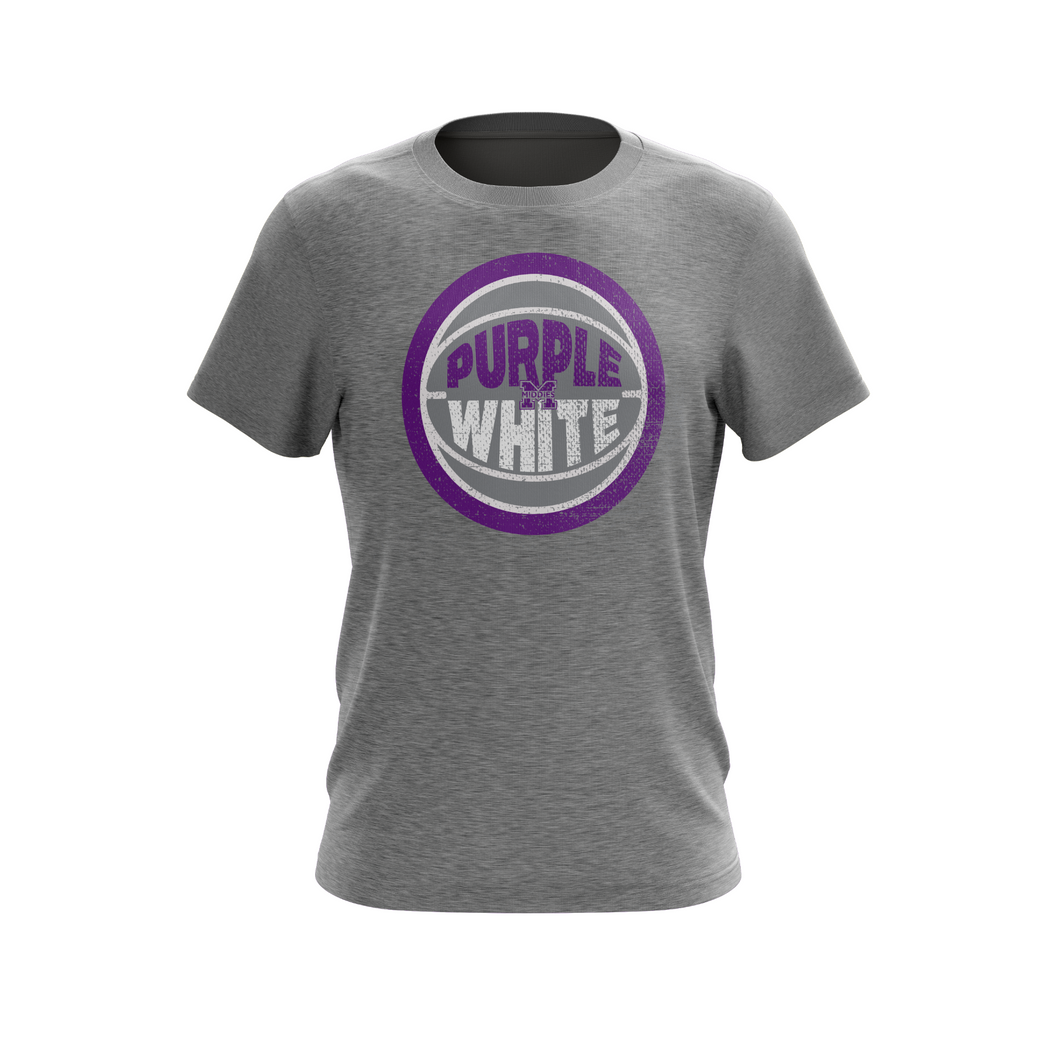 Purple and White Tee
