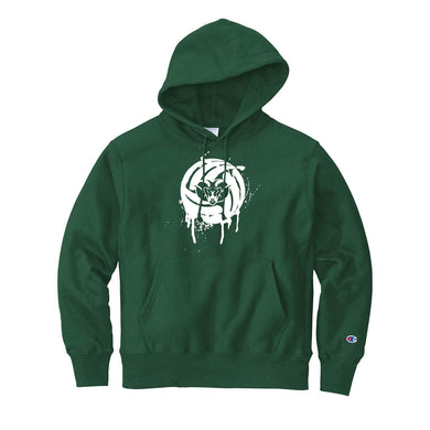 Badin Boys Volleyball Champion Reverse Weave Hoodie (Dark Green)