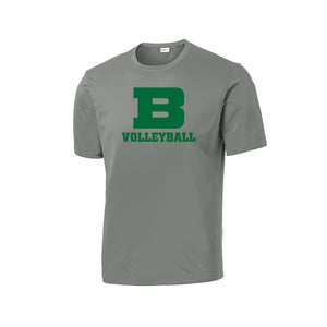 Badin Girls Volleyball 2020 - PosiCharge Competitor Tee (Gray Concrete)