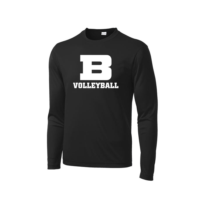 Badin Girls Volleyball 2020 - PosiCharge Competitor LS Tee (Black)