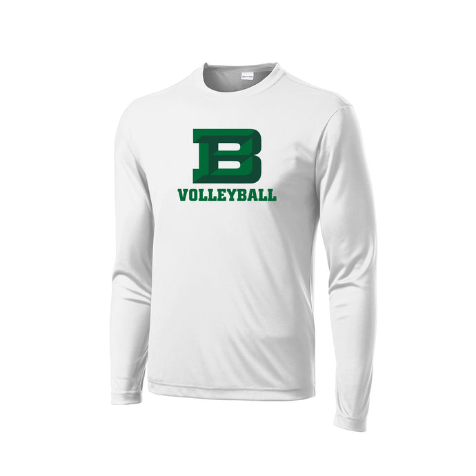 Badin Girls Volleyball 2020 - PosiCharge Competitor LS Tee (White)