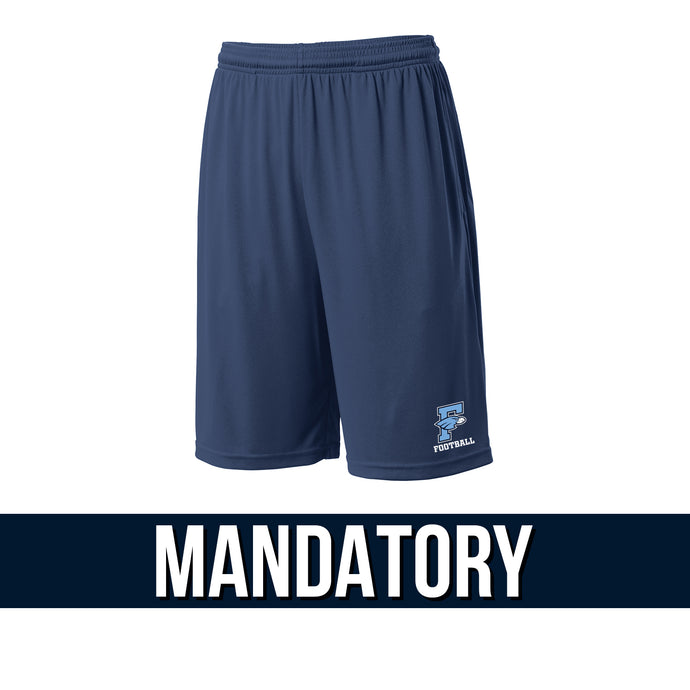 Fairborn Football 2020 - PosiCharge Competitor Pocketed Short (Navy)
