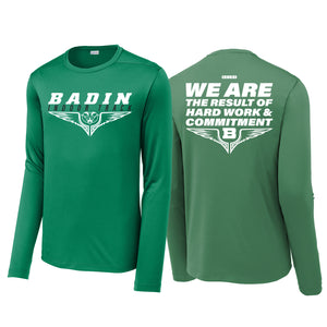 Badin Indoor Track - Posi-UV Pro LS Tee (Kelly)