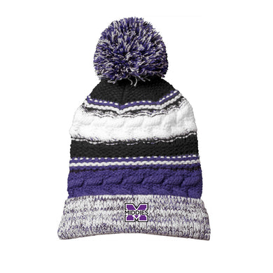 Middletown Athletics - Pom Pom Team Beanie (Purple)