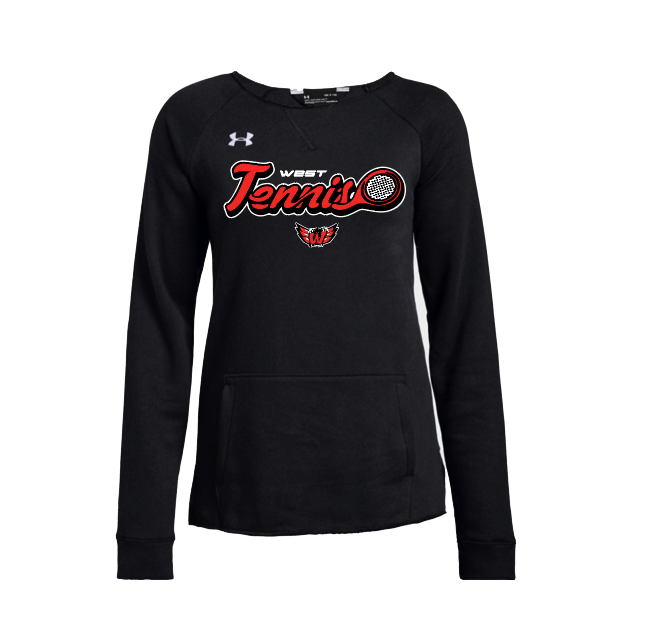 Lakota West Tennis UA Hustle Fleece Women's Crew