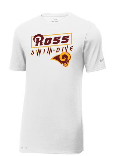 Ross Swimming And Diving Nike Dri Fit Tee
