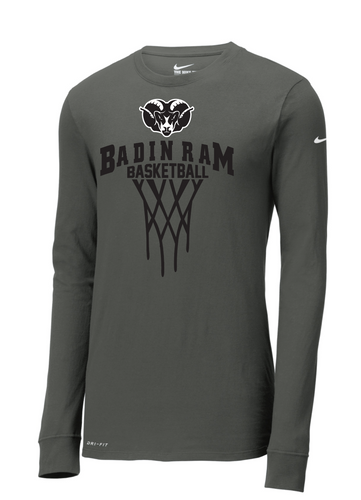 Badin Basketball Nike Core Cotton Tee LS