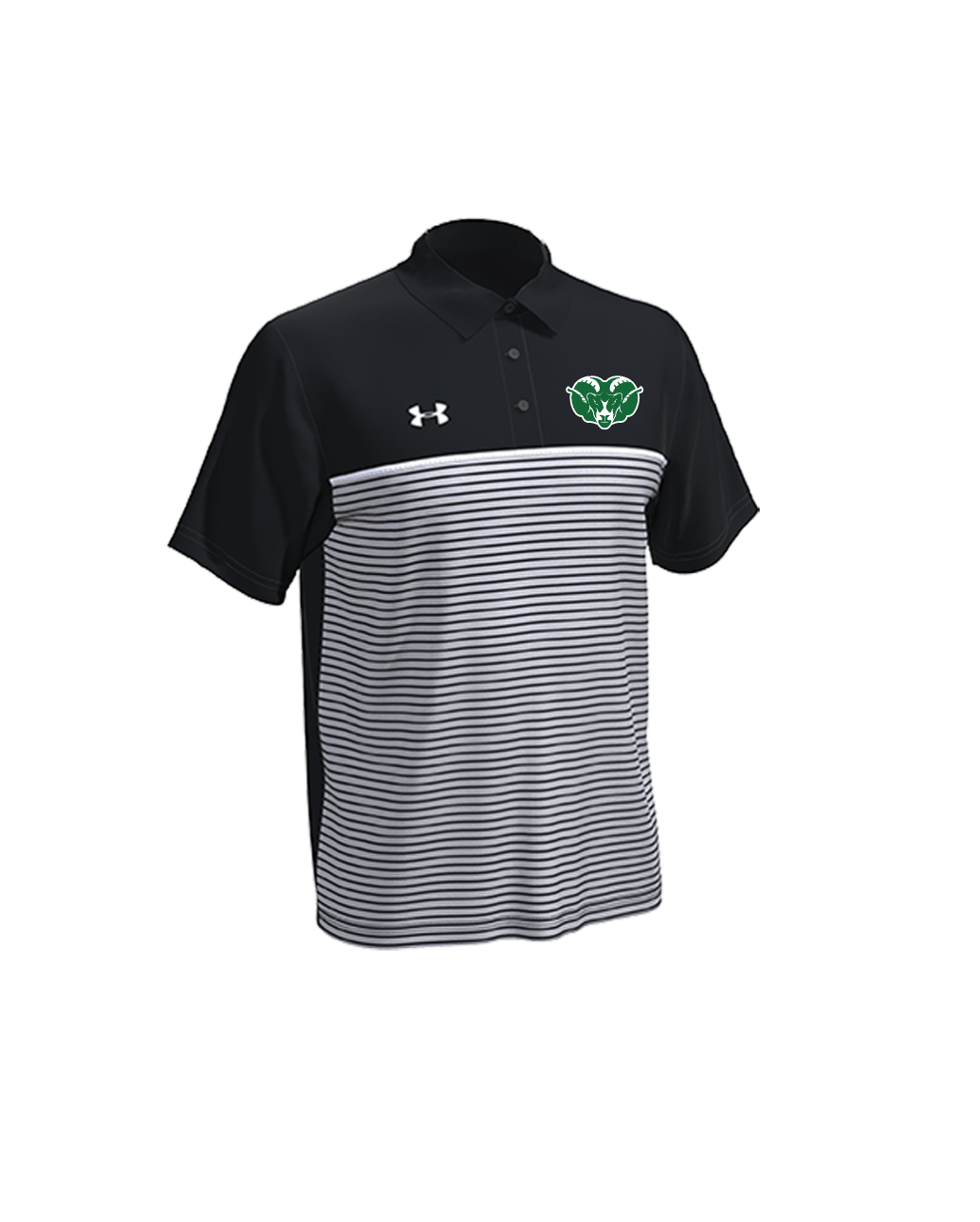 Badin Athletics - Under Armour Stripe Mix-Up Polo