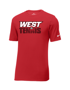 Lakota West Tennis - Nike Core Cotton T (Red)