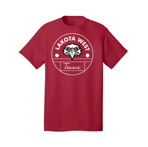 Lakota West Tennis - Core Cotton T (Red)
