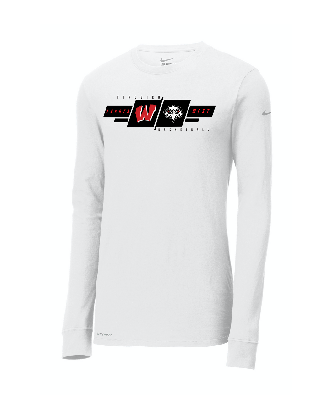 West Basketball Nike Cotton/Poly Dri Fit T LS