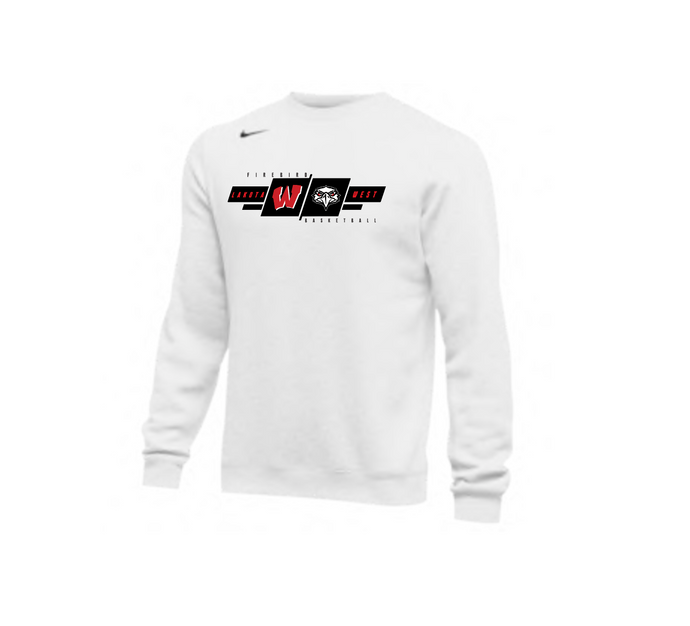 West Basketball Nike Club Fleece Crew