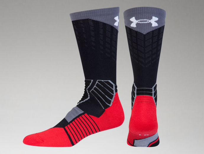 West Basketball UA Drive Crew Sock