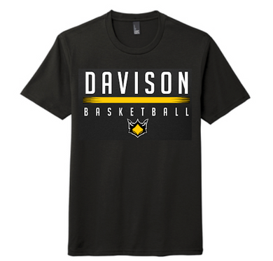 Davison Basketball - Triblend Tee (Black)