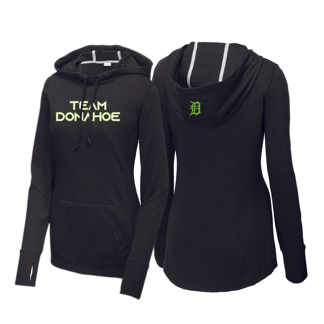 Team Donahoe Ladies Tri-Blend Wicking Fleece Hooded Pullover