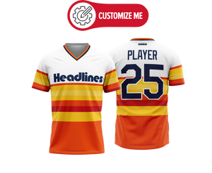 Headlines Custom Baseball Jersey MLB Astros Retro