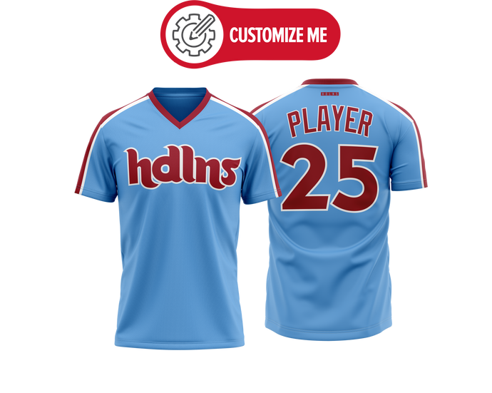 Headlines Custom Baseball Jersey MLB Phillies Retro