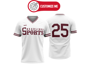Headlines Custom Baseball Jersey NCAA Miss St