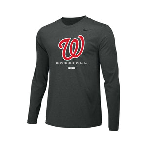 Lakota West Baseball Nike Legend LS Tee (Carbon Heather)