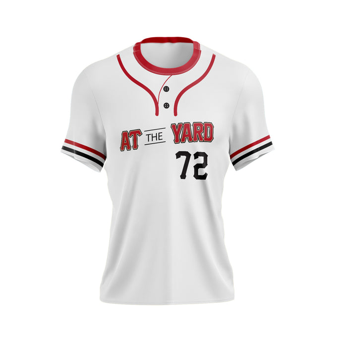 At The Yard Full Sublimated Jersey (White Two Button)