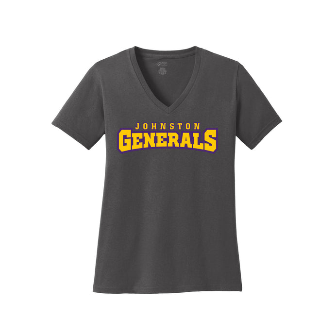 Johnston Generals Ladies V-Neck Tee