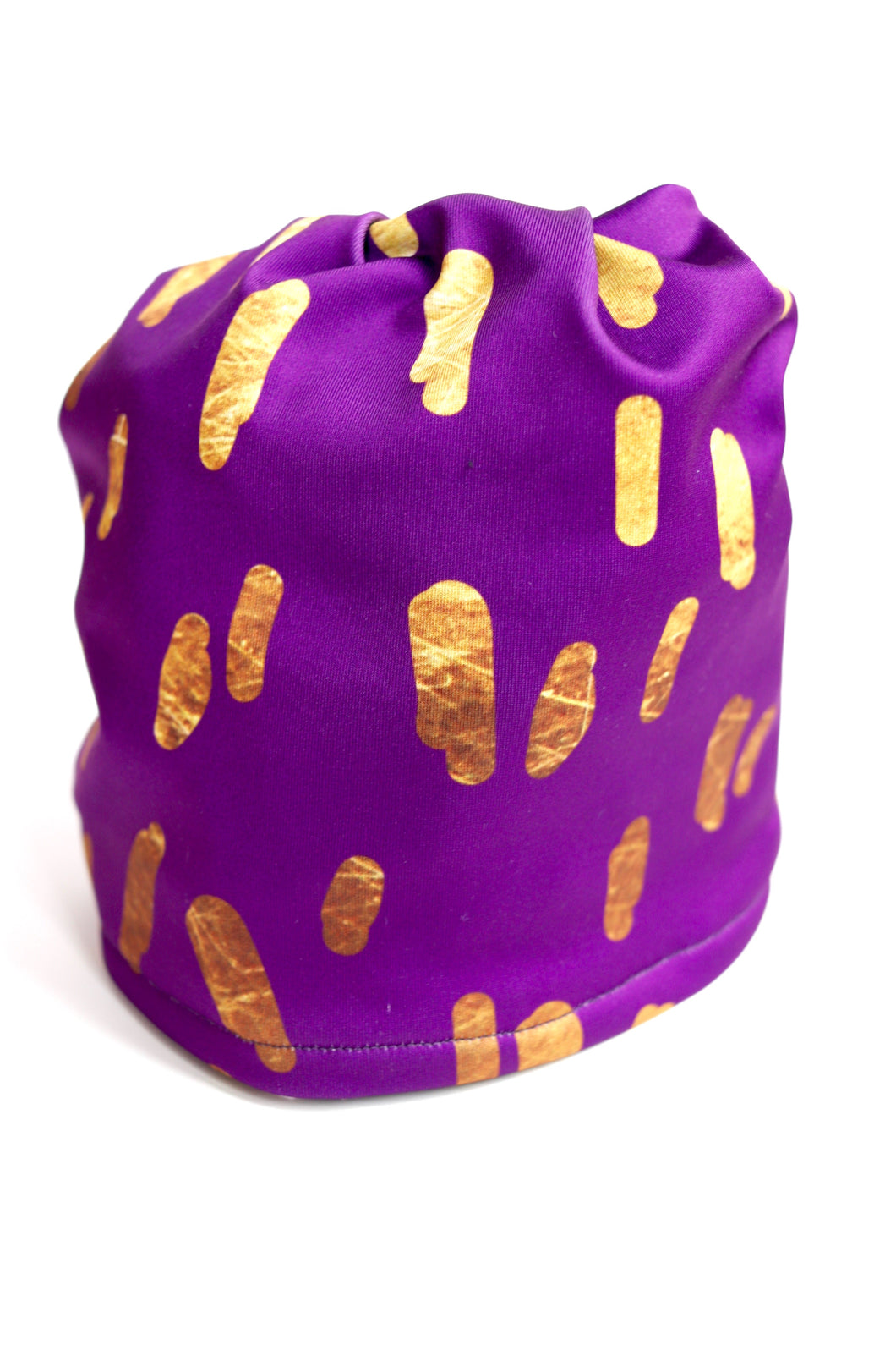 Gold Confetti Pony Tail Fleece Lined Hat