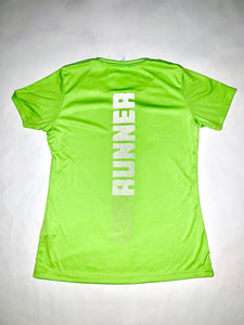 Lime Green Reflective Runner Tee