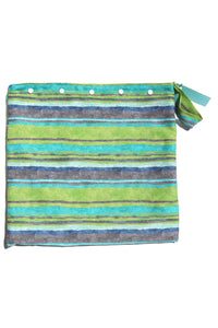 Green Stripes Wet Bag