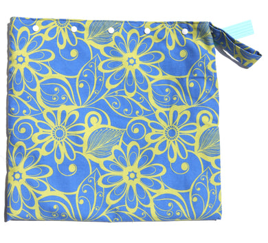 Lime Floral Wet Bag