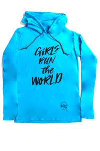 Girls Run The World Long Sleeve Kids Hoodie