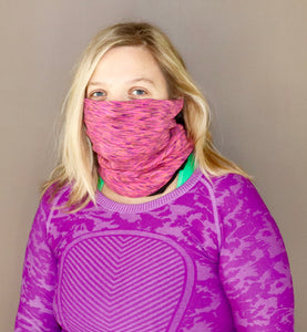 Pink Space Dye Fleece Gaiter