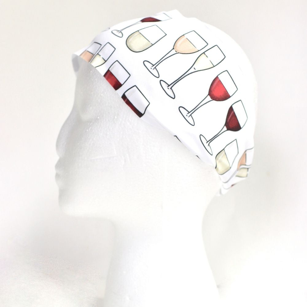 Sweat Wicking White Wine Headband